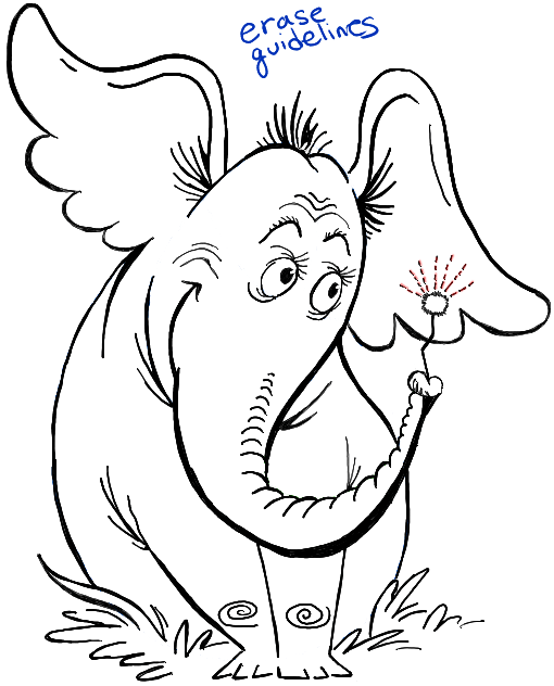510x632 Today I Will Show You How To Draw Horton, The Elephant From Dr