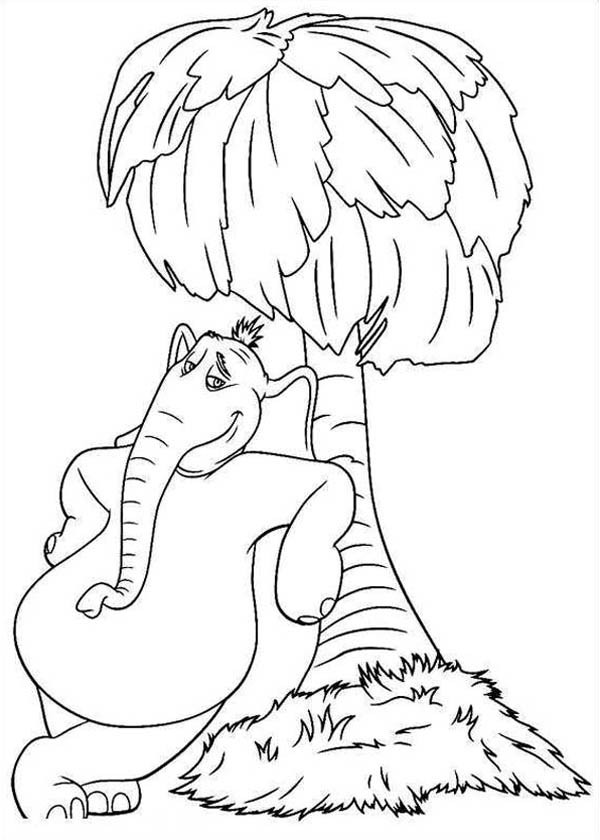 600x840 Horton Hears A Who Standing Beside A Tree Coloring Pages Bulk Color