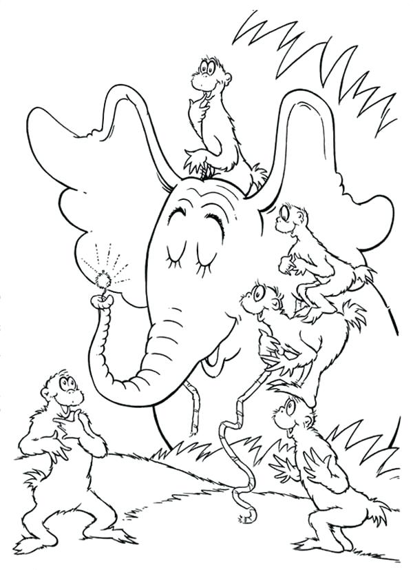 600x827 Horton Hears A Who Coloring Page Telling To The About The Clover