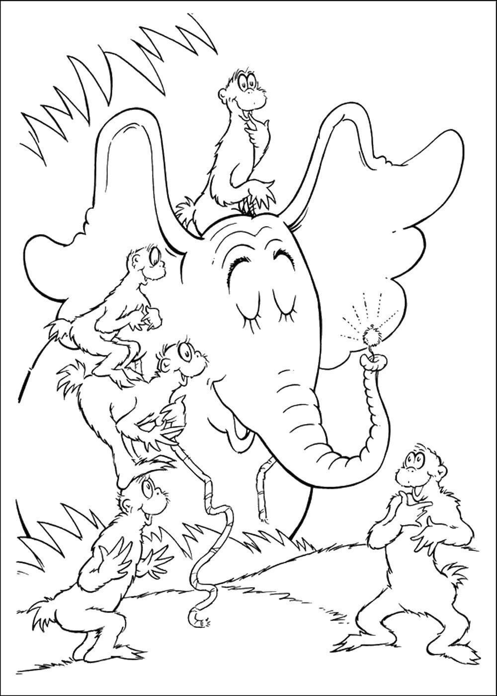 1000x1400 Horton Hears A Who Elephant Coloring Pages Coloring Page For Kids