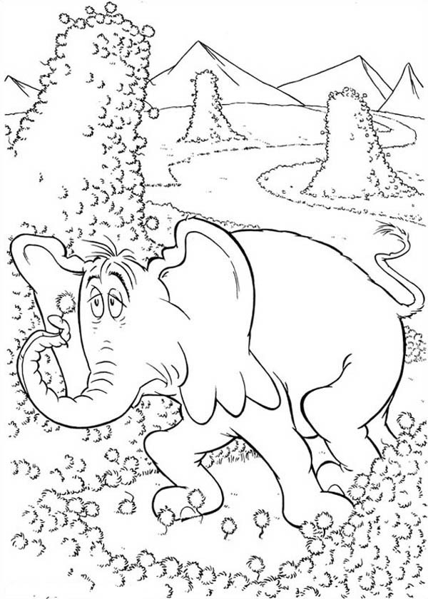 600x840 Horton Look Tired Coloring Pages Bulk Color