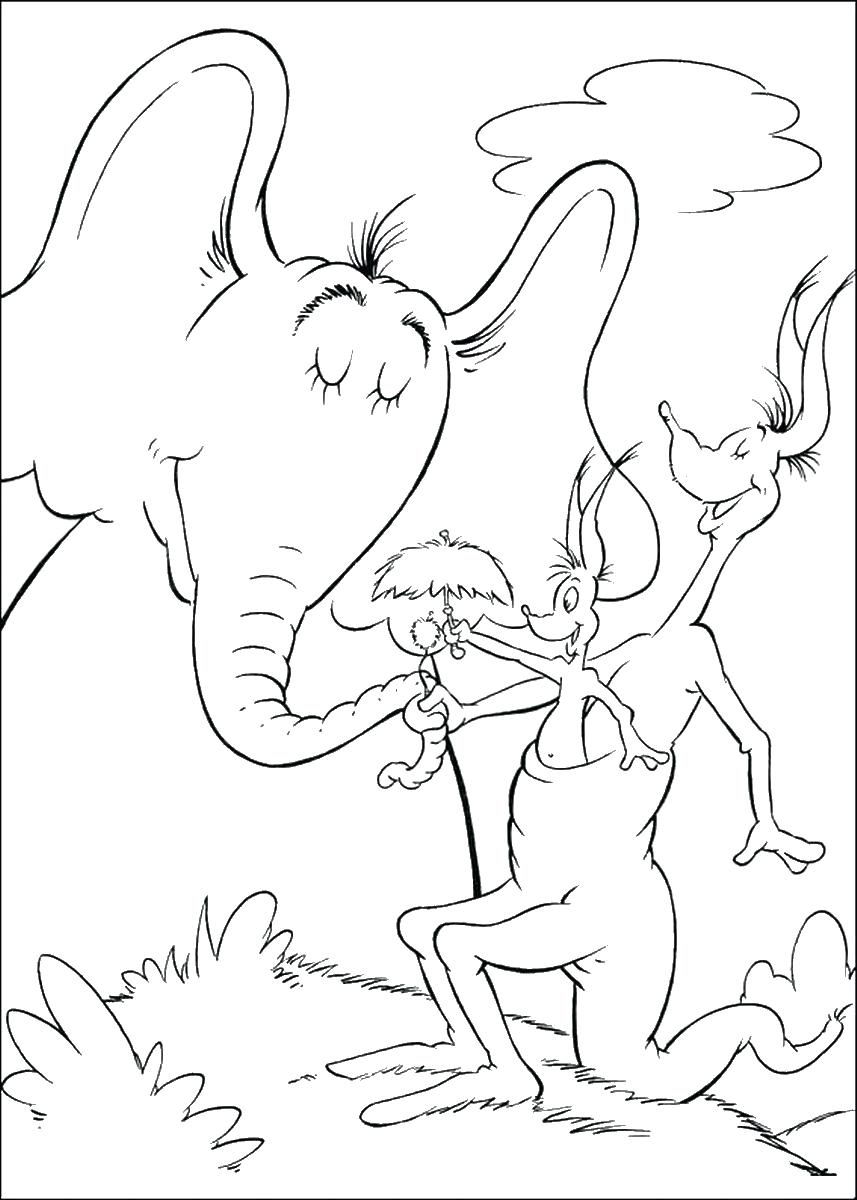 857x1200 Coloring Horton Hears A Who Coloring Page Pages Photo. Horton