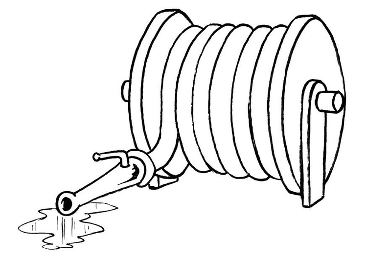 750x531 Coloring Page Fire Hose