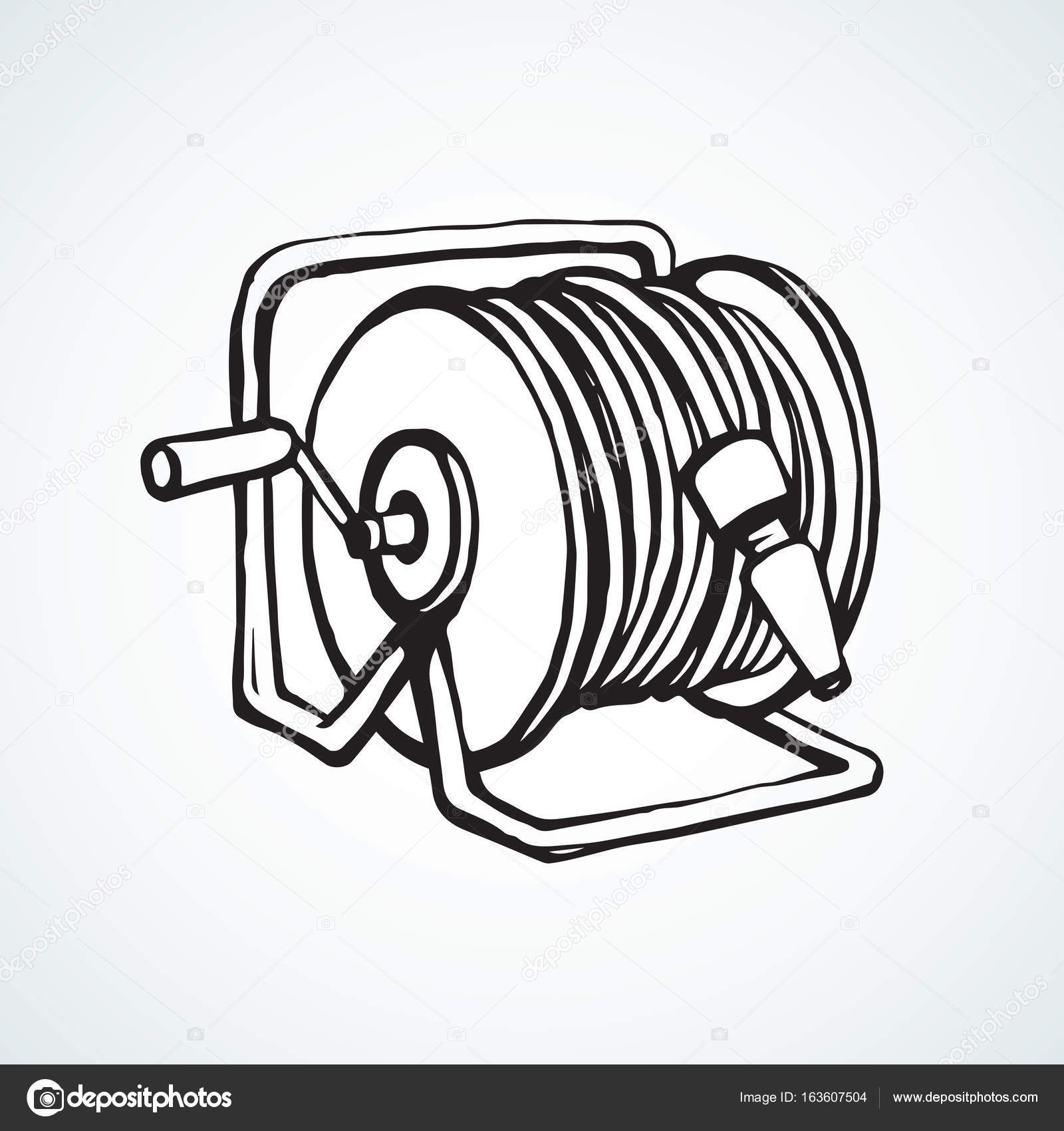 Hose Drawing At Free For Personal Use Iron Man Suit Diagram Images Pictures Becuo 1600x1700 Roll The Vector Stock Marinka