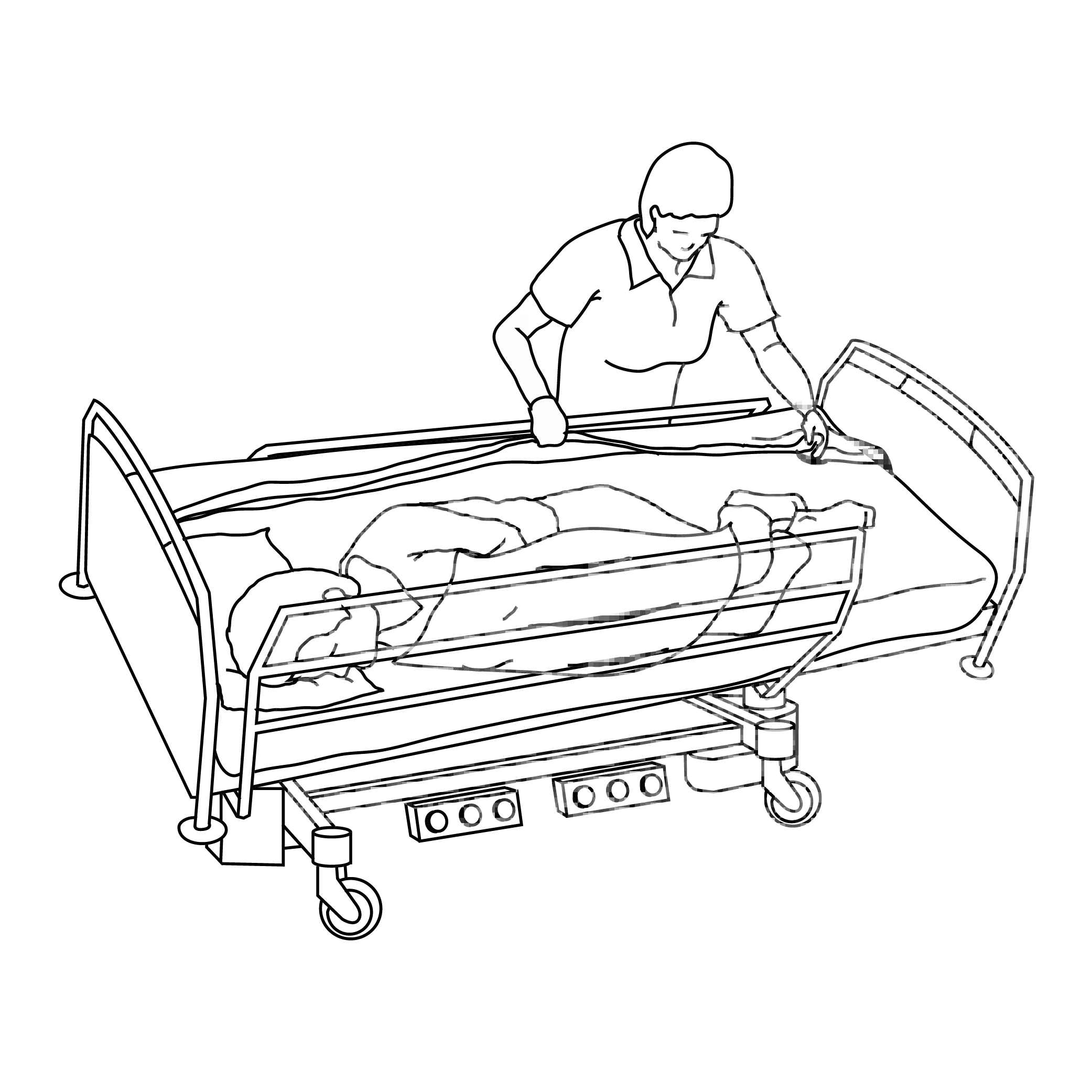 2083x2083 Latera Acute Hospital Bed