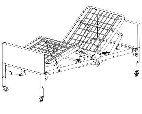 500x401 Patriot Semi Electric Hospital Bed Bundle Graham Field Us0208
