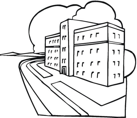 480x413 Hospital Coloring Page Free Printable Coloring Pages