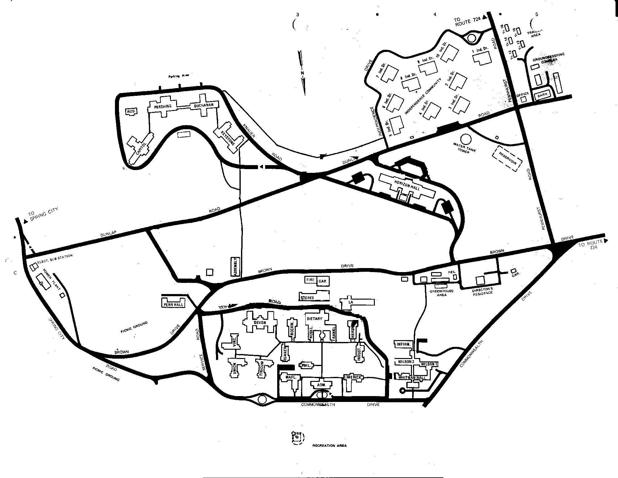 2000x1546 Map Of Pennhurst Pennhurst State School And Hospital