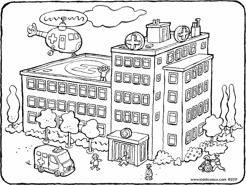 800x602 Buildings Colouring Pages