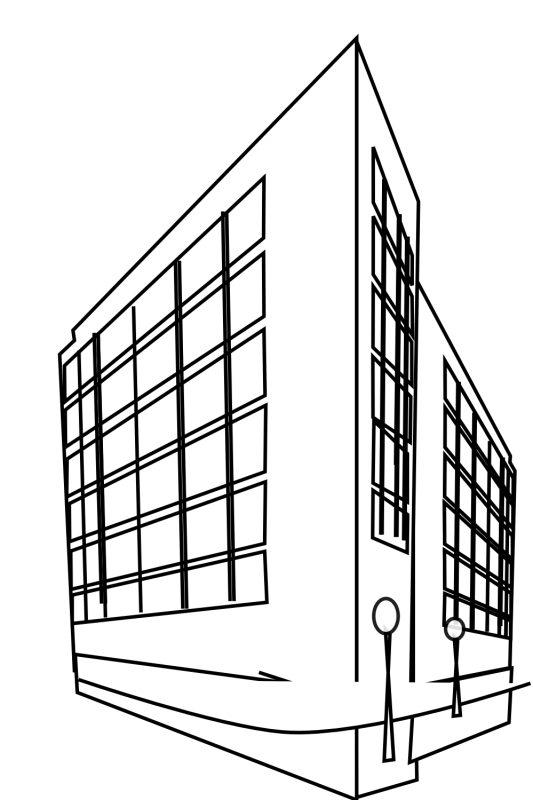533x800 Hospital Building Clipart Black And White