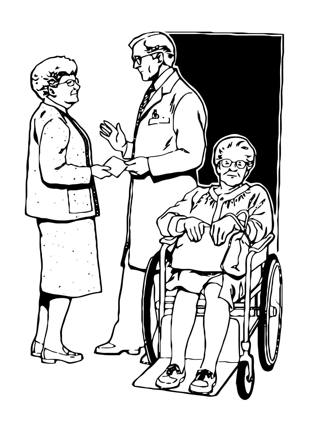 1240x1750 Coloring Page Discharge From Hospital