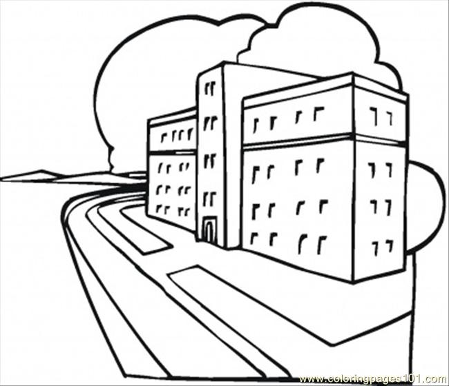 650x560 New Hospital Coloring Page
