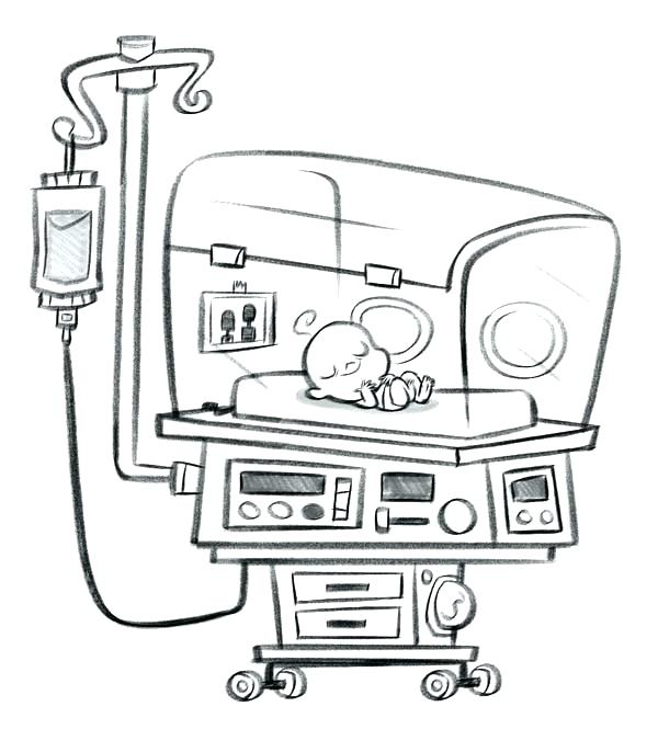 600x686 Hospital Coloring Pages Synthesis.site