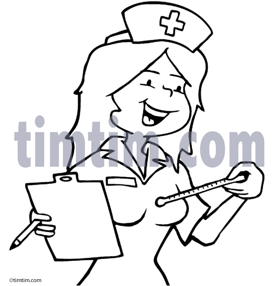 573x588 Free Drawing Of A Nurse Bw From The Category Diet Amp Health