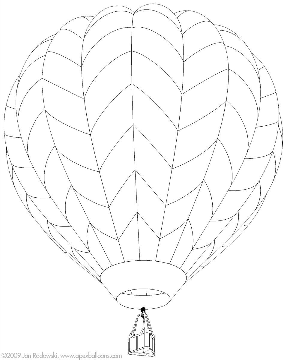 Hot Air Ballon Drawing