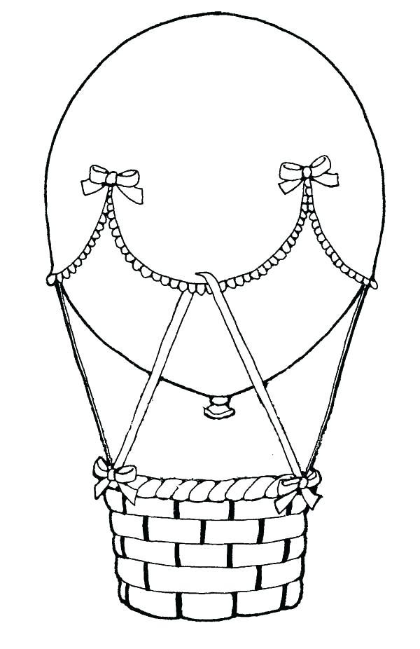 600x926 Drawn Basket Hot Air Balloon 3254734