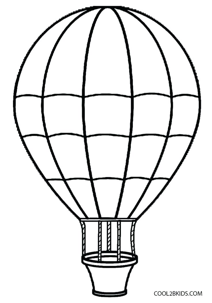 736x1051 Elegant Hot Air Balloon Coloring Page Or Hot Air Balloon Coloring