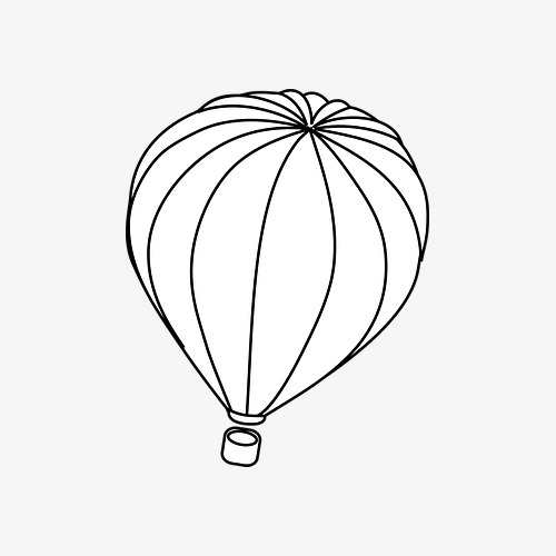 500x500 Hot Air Balloon, Balloon Stroke, Hand Drawn Balloons Png Image
