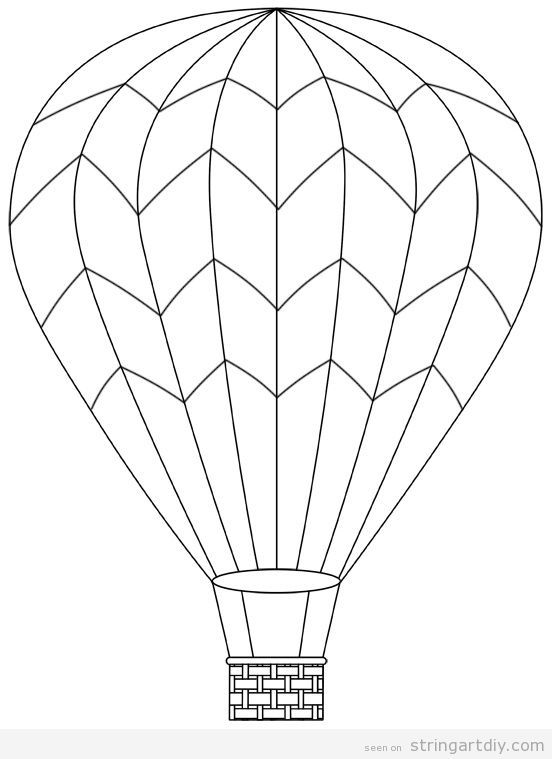 552x759 Hot Air Balloon Free And Pritnable Template 2 String Art