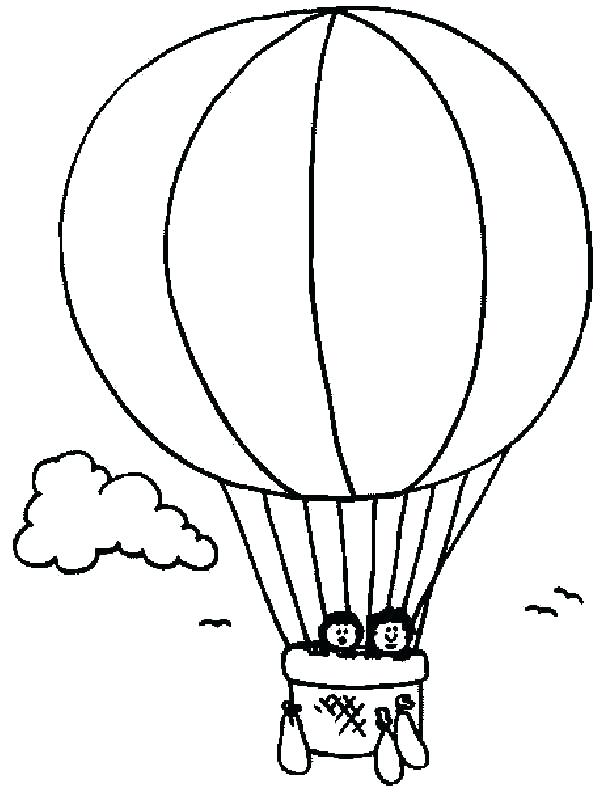 600x803 Top Hot Air Balloon Coloring Pages Print Drawn Book Pencil And