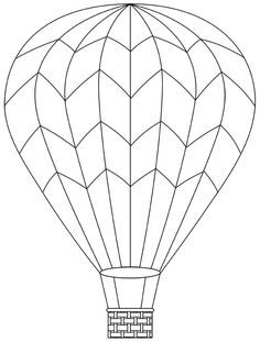 Hot Air Balloon Basket Drawing