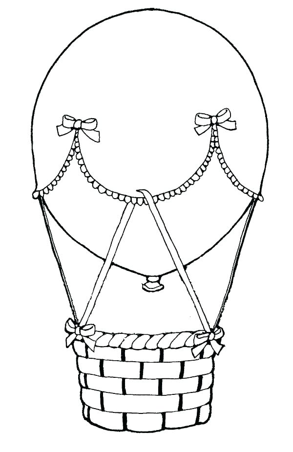 600x926 Elegant Hot Air Balloon Coloring Page Or Hot Air Balloon Coloring