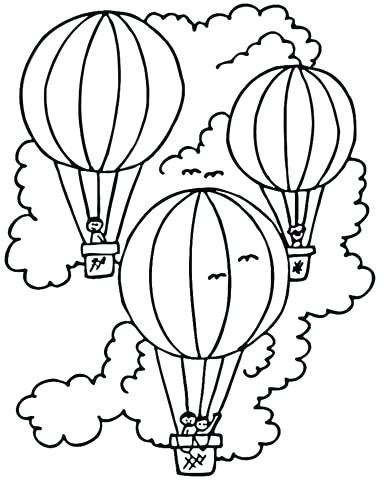 384x480 Hot Air Balloon Coloring Pages Hot Air Balloon Coloring Pages Free