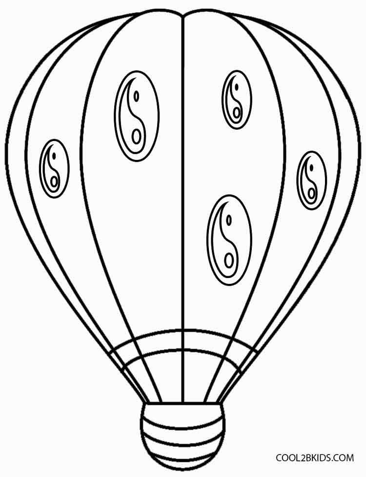 750x978 Hot Air Balloon Colouring Pictures Printable Hot Air Balloon