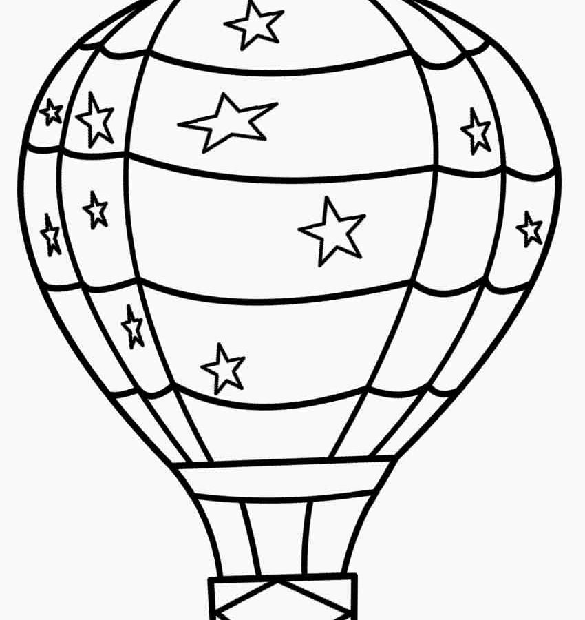 850x900 Superb Hot Air Balloon Drawing With Coloring Free Printable Pages