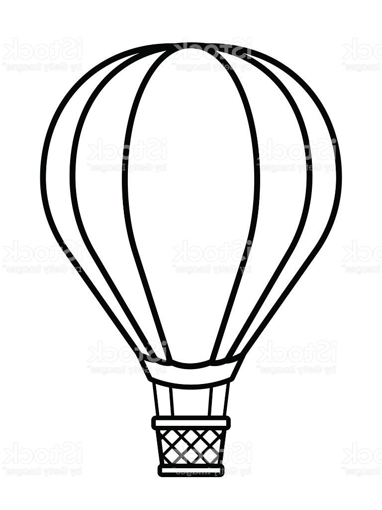 768x1024 Unique Vector Image Of Silhouette Hot Air Balloon Design