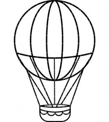 222x250 Unlimited Hot Air Balloon Outline Vintage With Basket Vector Icon