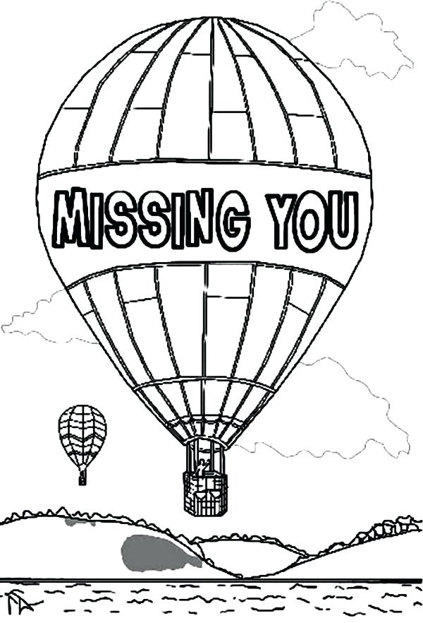 600x882 Balloon Pictures To Color Balloon Color By Number Hot Air Balloon