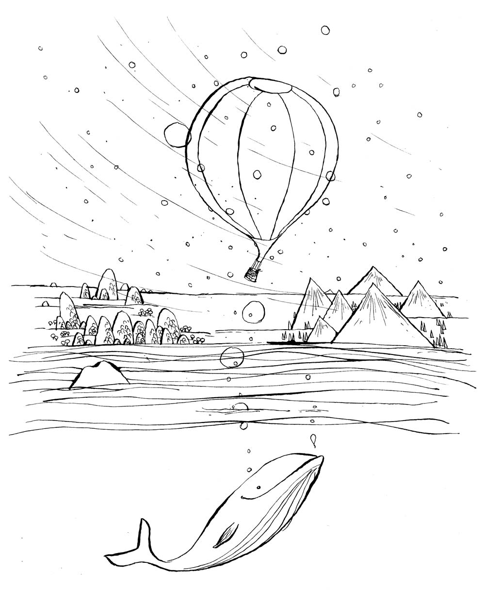 1000x1250 Drawing Prompt Hot Air Balloons! Bobbledy Books