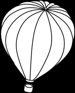 240x299 Hot Air Balloon Outline Clip Art