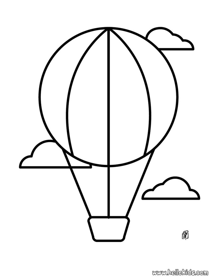 736x951 Hot Air Balloon Printable Template
