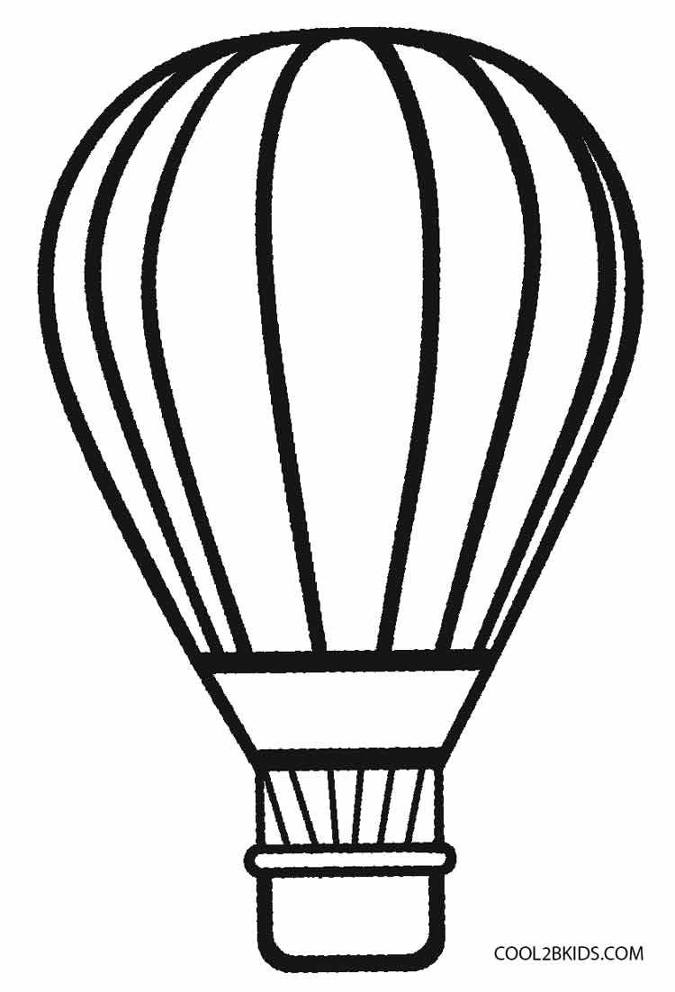 750x1102 Hot Air Balloon Template Printable Professional Template