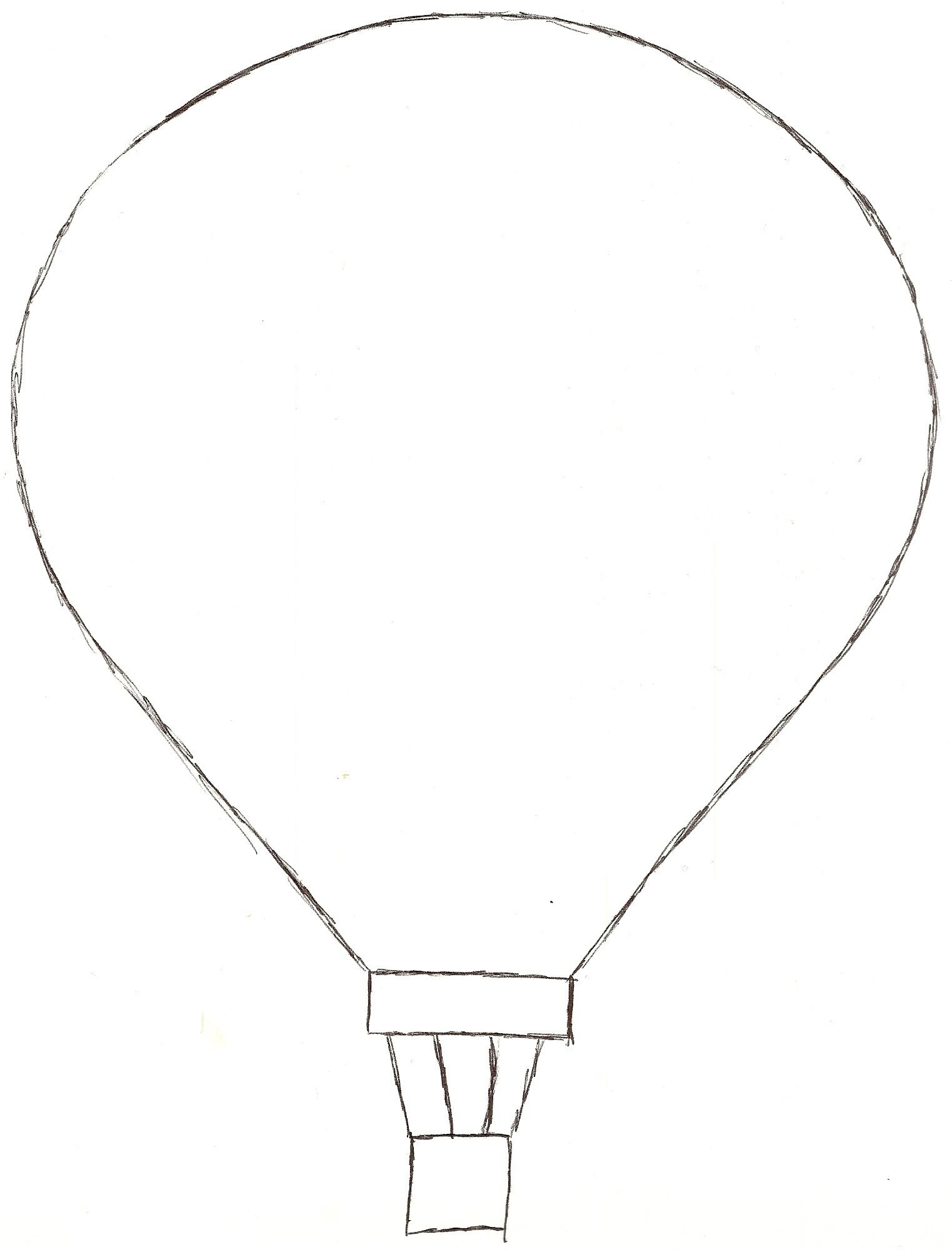1523x2003 Hot Air Balloon Template Printable Template's Within Hot Air
