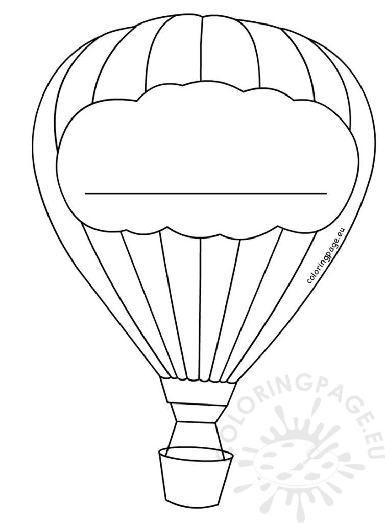 Massif image with hot air balloon template printable