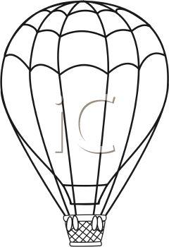 240x350 Hot Air Balloon Clipart Sketch