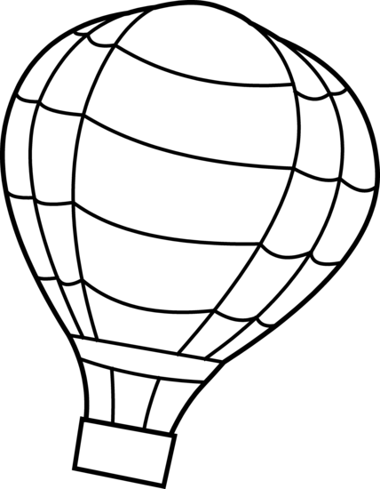 428x550 Magic Hot Air Balloon Outline Free Download Clip Art
