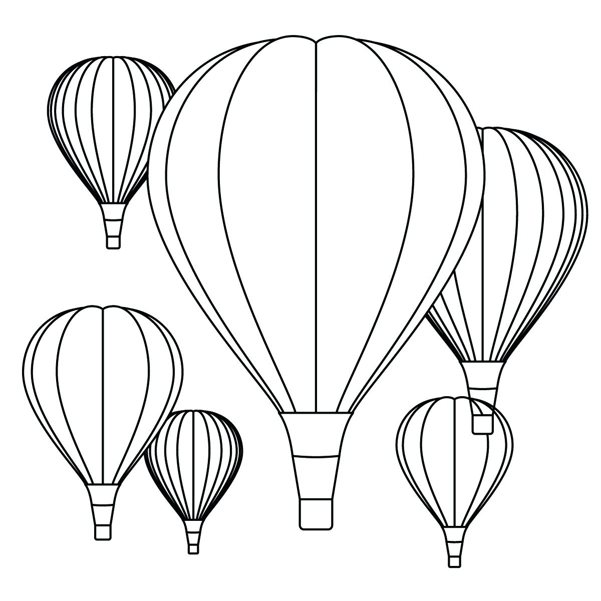 photograph regarding Balloon Template Printable titled Warm Air Balloon Drawing Template at  Cost-free