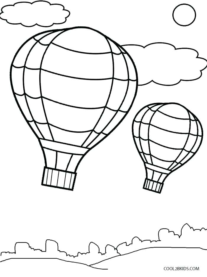 700x936 Coloring Pages Of Balloons Hot Air Balloon Coloring Page Template