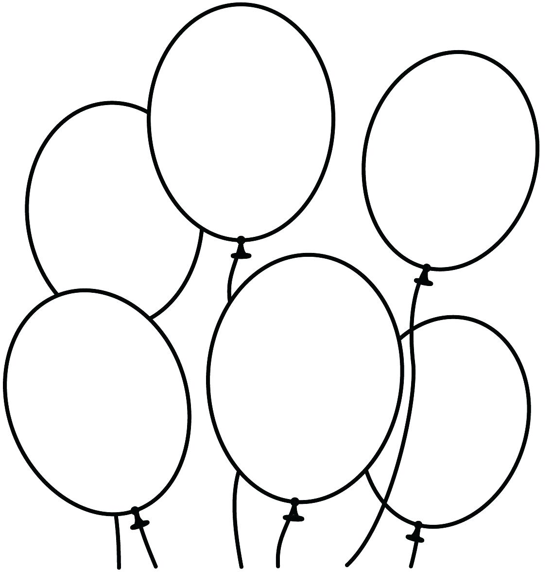1136x1176 Printable Balloon Cut Outs Fresh Idea Coloring Pages