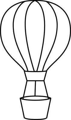 236x395 Free Printable Hot Air Balloon Template Collage Amp Scrapbooking