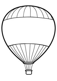 200x282 Hot Air Balloon Coloring Page Free Download