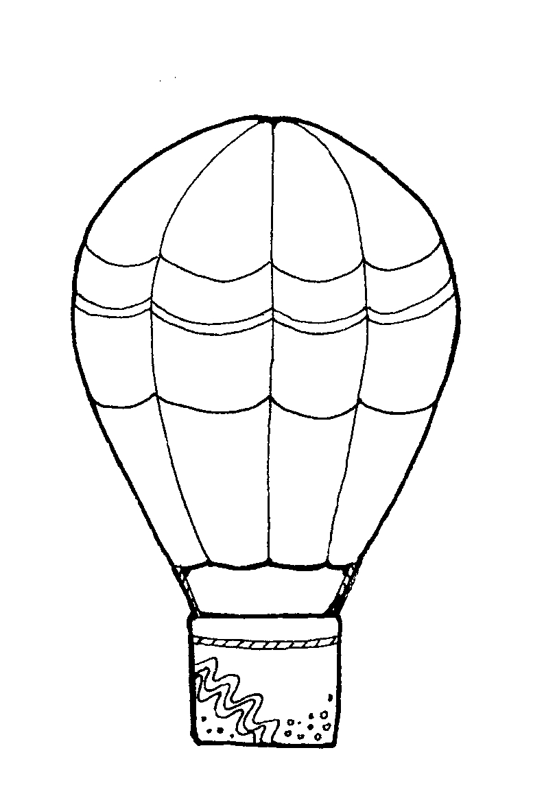 793x1177 Hot Air Balloon Coloring Pages