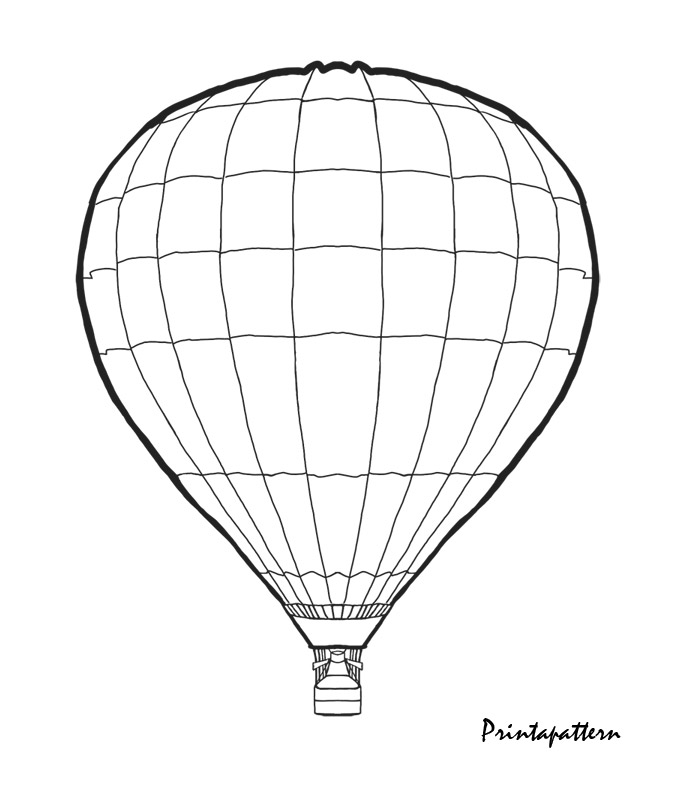 675x788 Hot Air Balloon Outline Group
