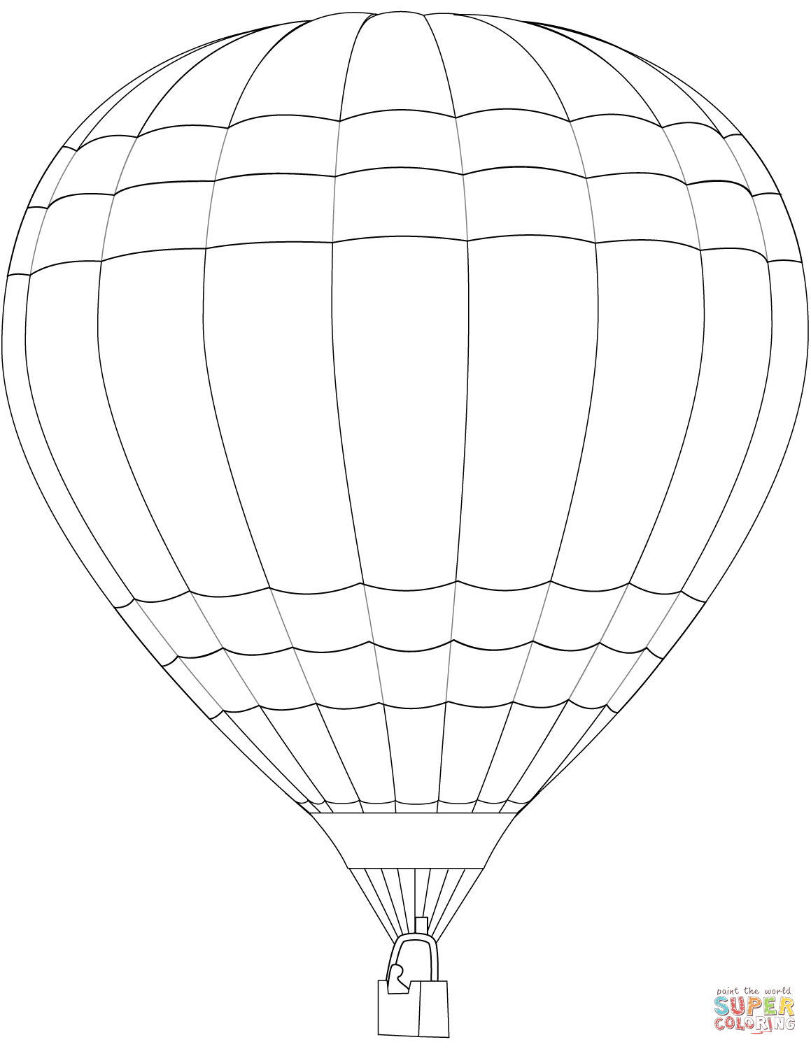 1159x1500 Hot Air Balloon Coloring Page Free Printable Coloring Pages