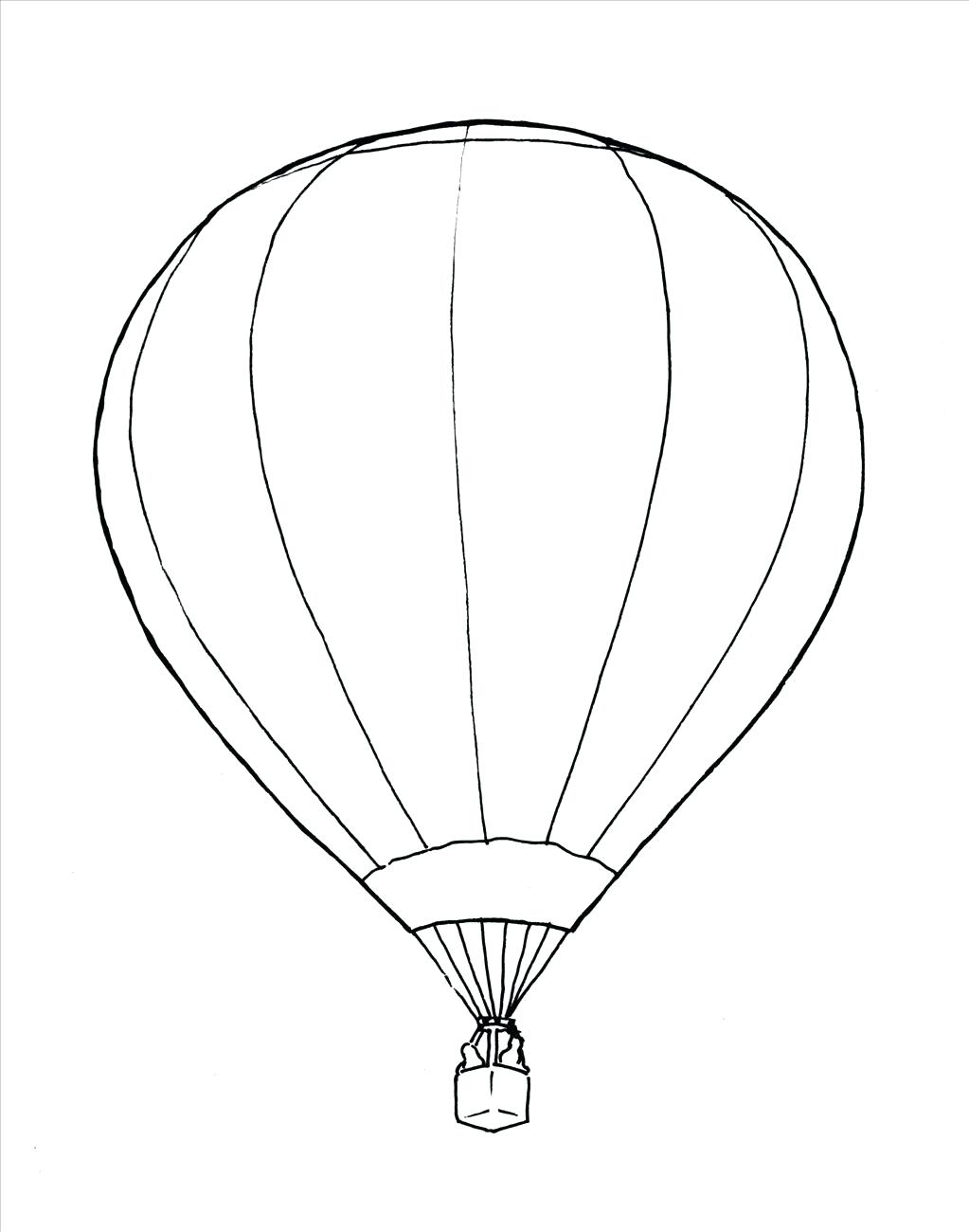 1023x1300 Template Hot Air Balloon Template