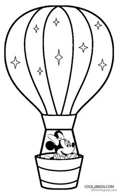 236x383 Coloring Page For Adults Hot Air Balloons Hand